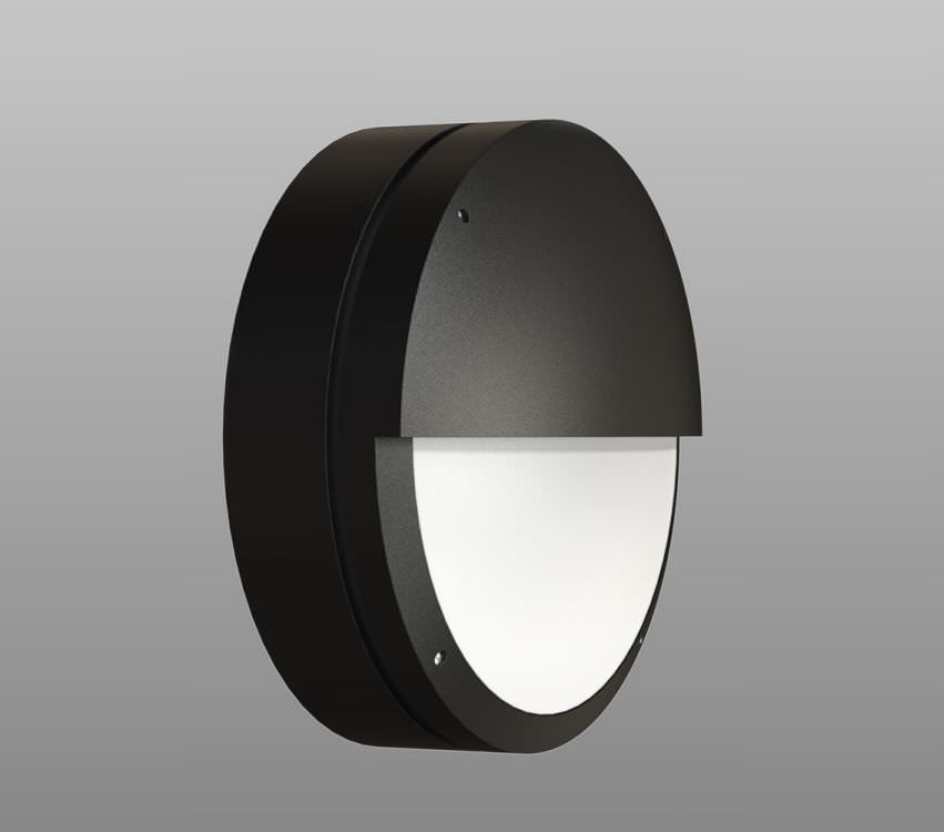 Contemporary Wall Light Outdoor Polycarbonate Round Textured 2d