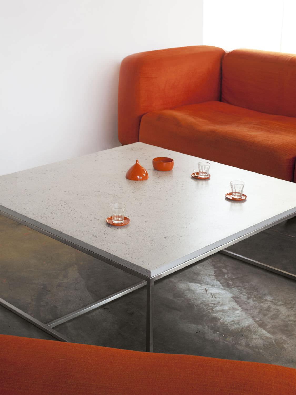 contemporary coffee table / concrete / rectangular - leto