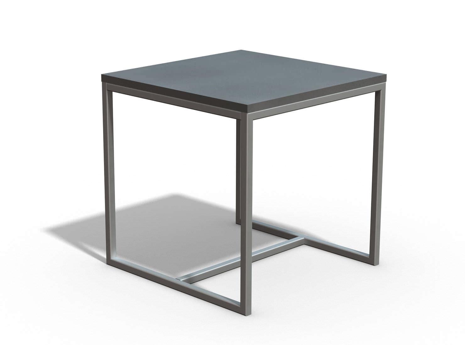 Contemporary Side Table / Concrete / Rectangular   LETO By Studio LCDA