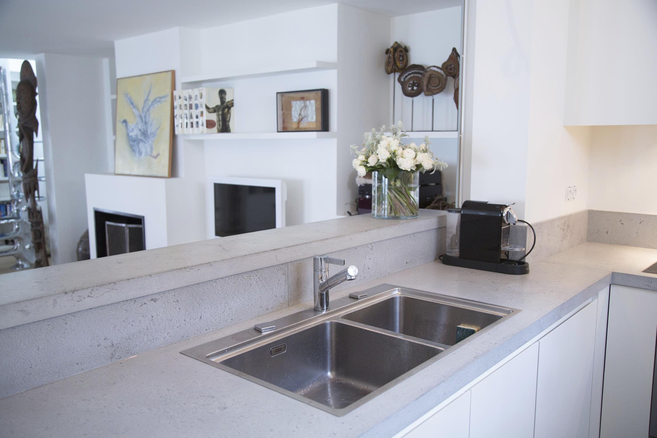 ... Concrete Countertop / Kitchen Cuisine U0026 Crédence En Béton Concrete By  ...