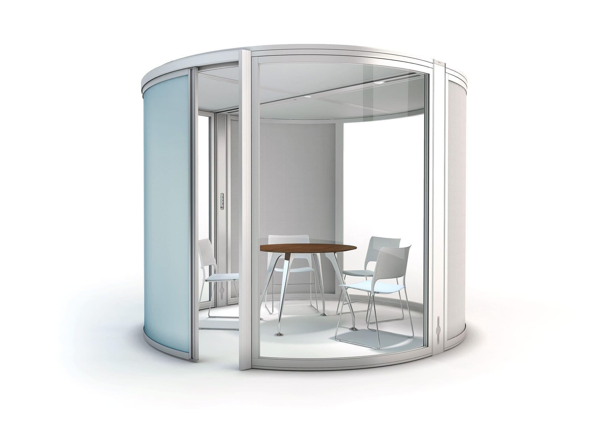 Glass Pod Office Airea Orange Box