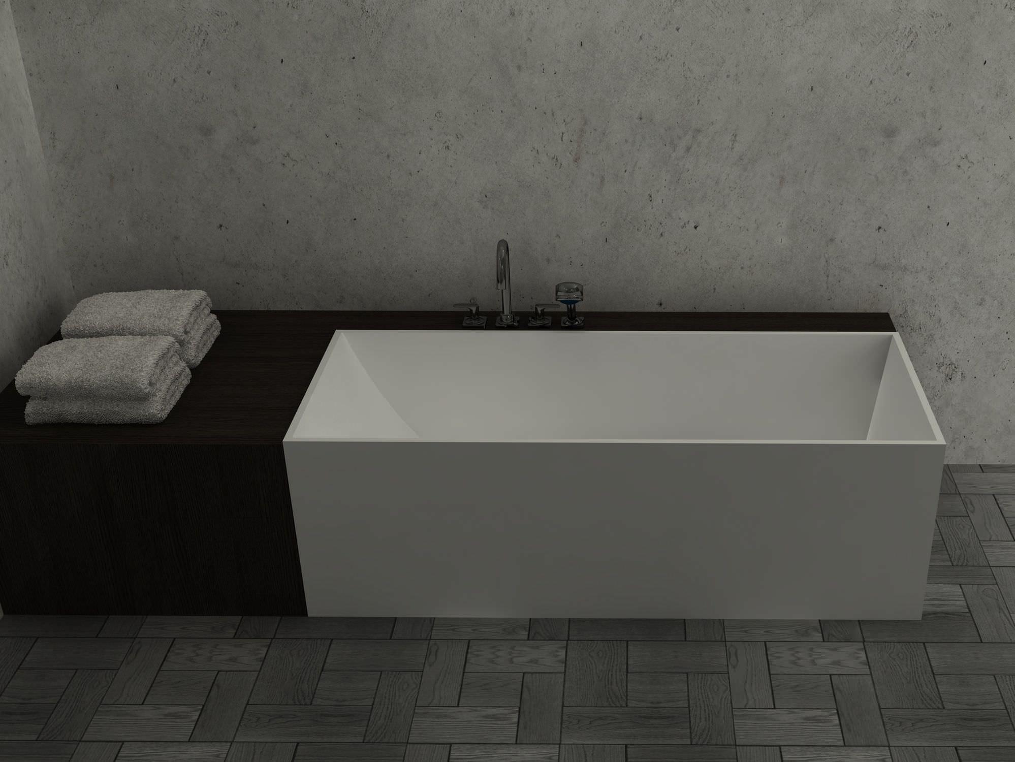 Freestanding bathtub / Solid Surface - BS-S24 - Bella Stone Company ...