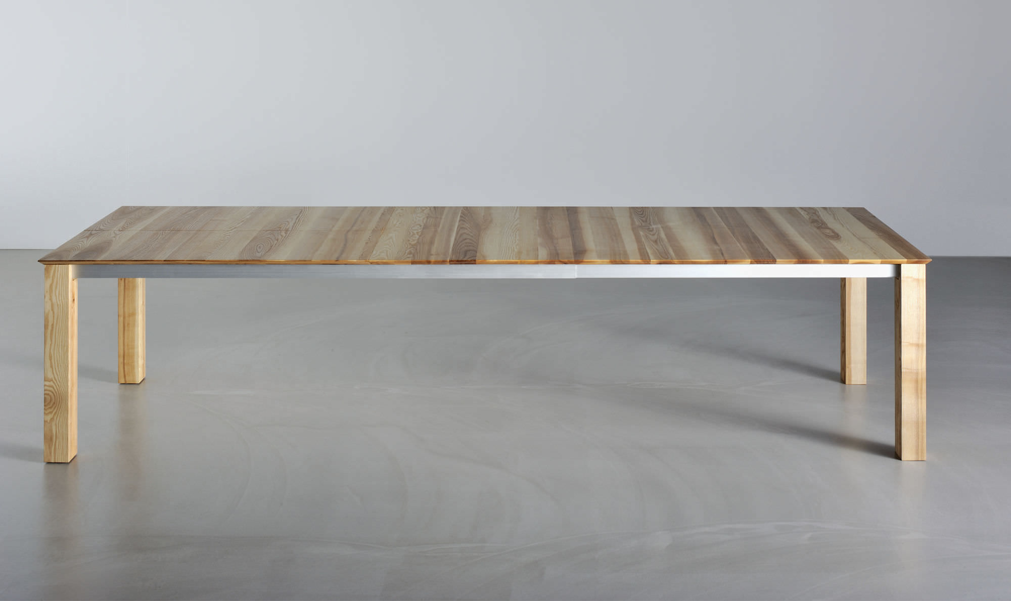 Wood table top designs - Contemporary Dining Table Solid Wood Rectangular Extending Slim