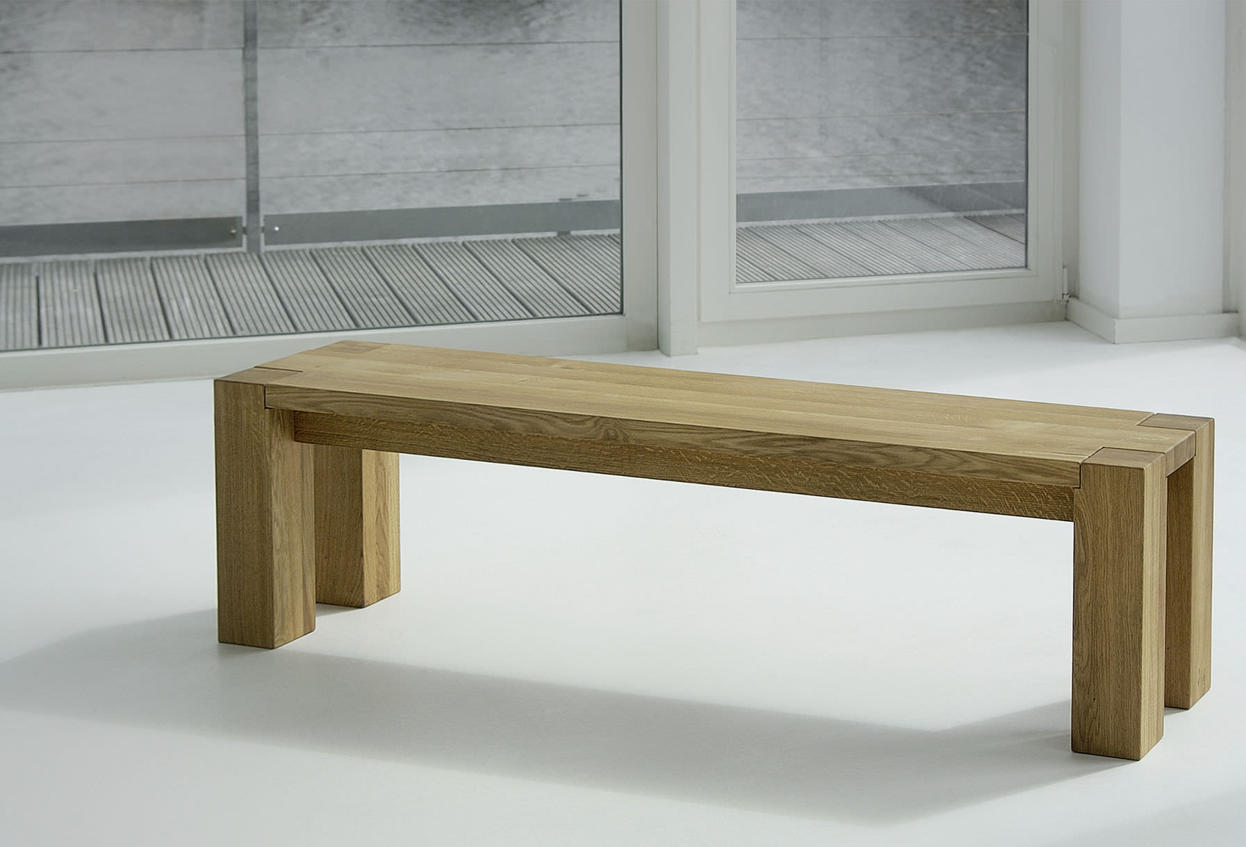 Contemporary bench / solid wood - TAURUS - vitamin design (Dona ...