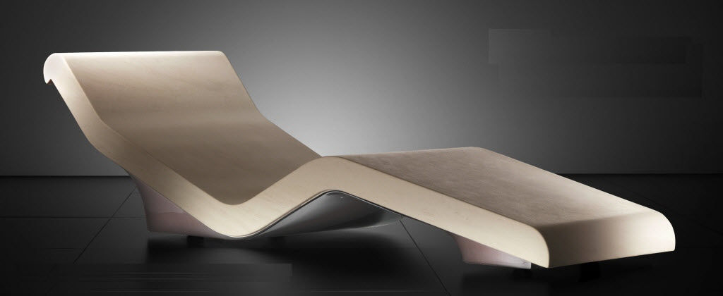 Contemporary chaise longue marble for wellness centers
