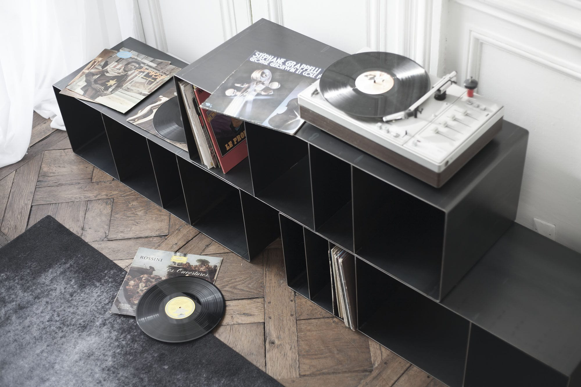 Modular Shelf Industrial Design Steel For Vinyl Records