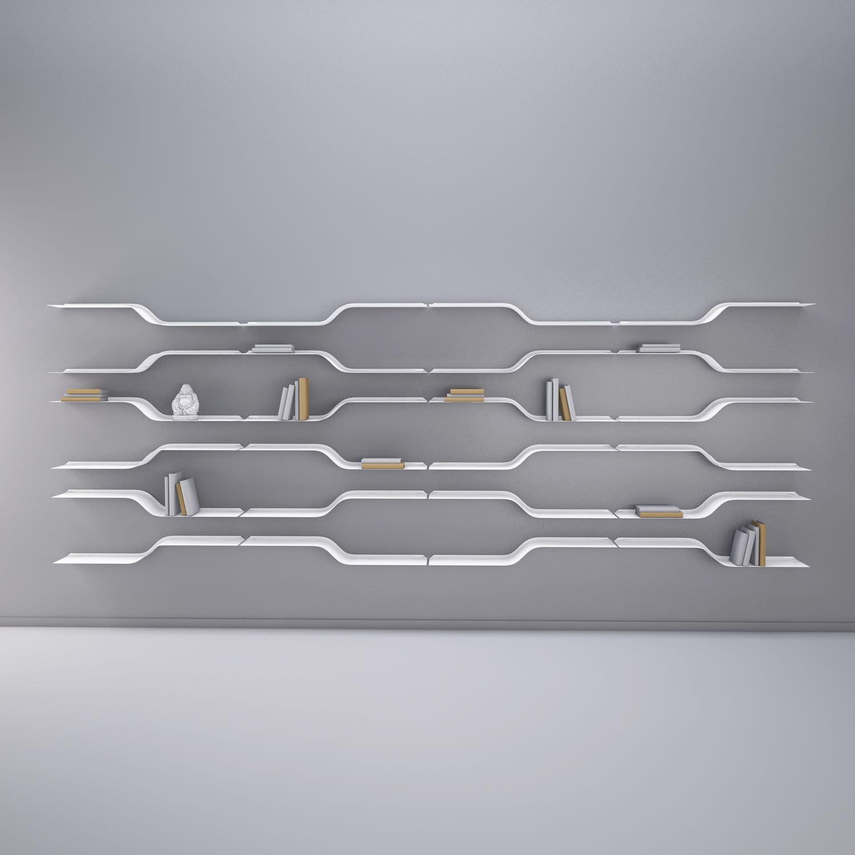 Wall mounted shelf original design metal STAIRS by Julien