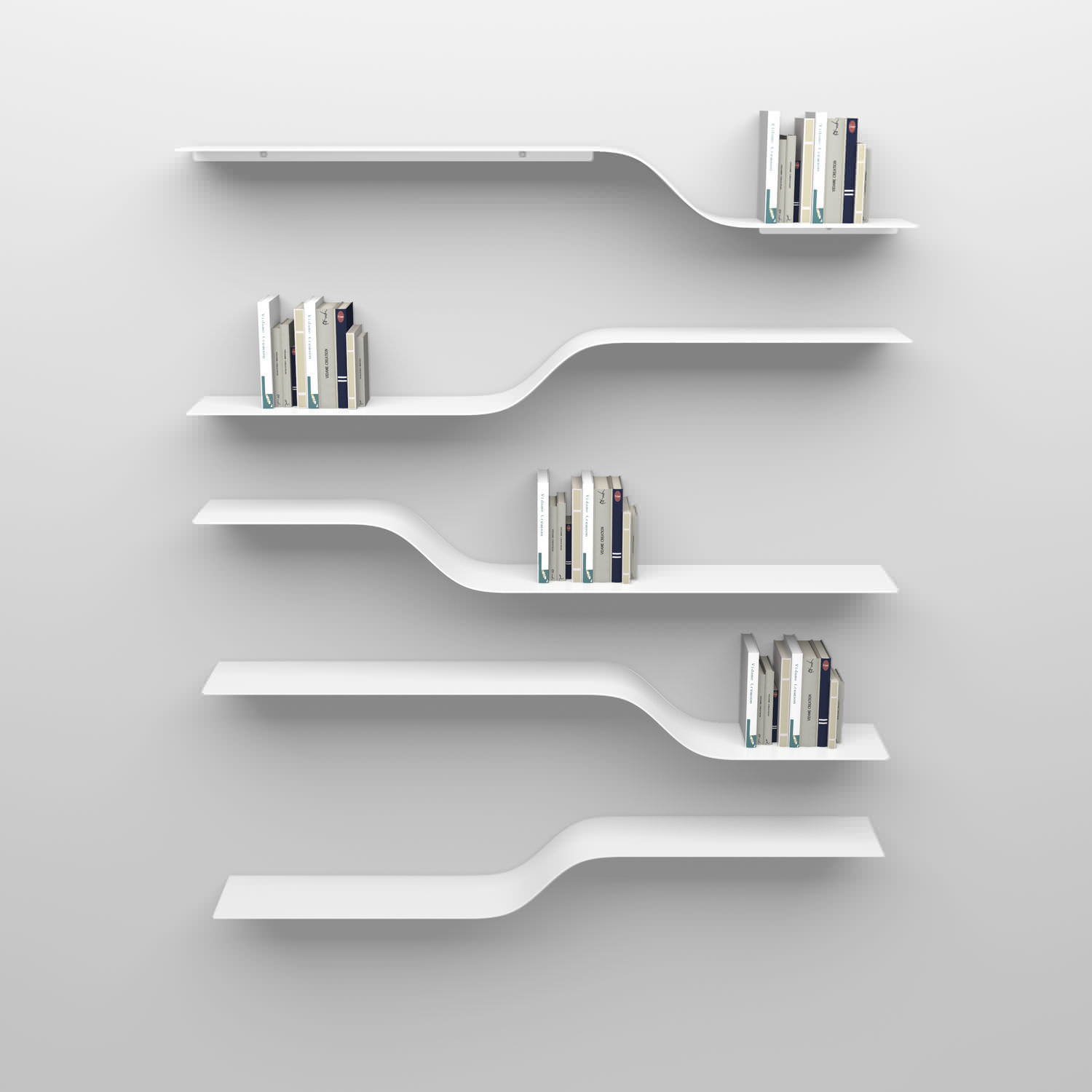 Modular shelf wall mounted contemporary aluminum by Julien
