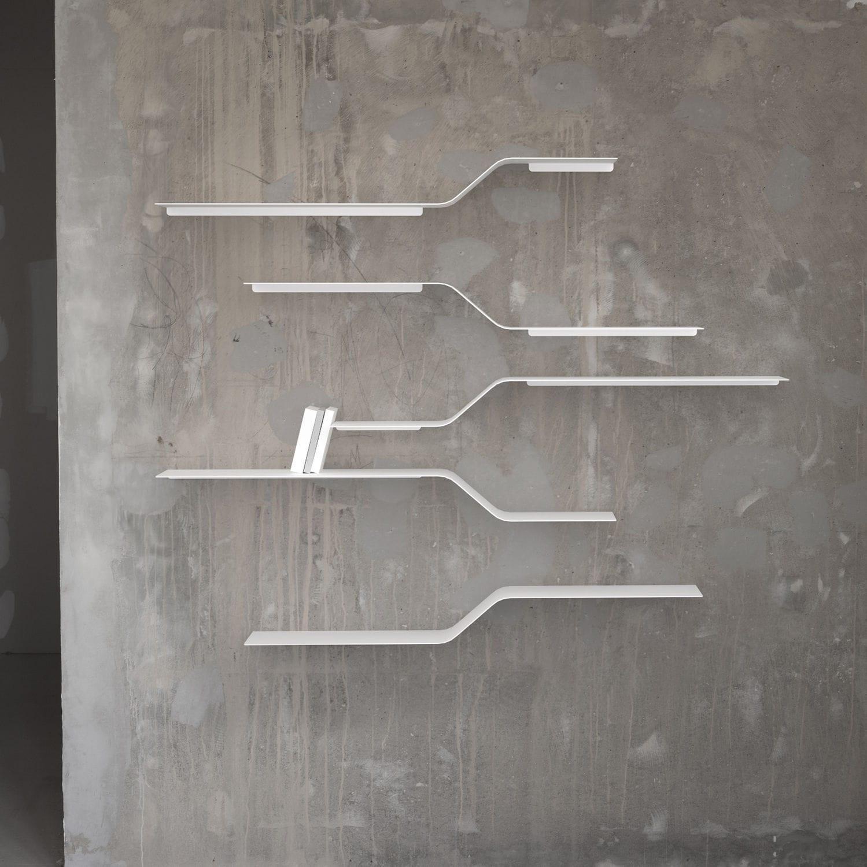 VIDAME CREATION; Wall Mounted Shelf / Modular / Minimalist Design /  Aluminum .