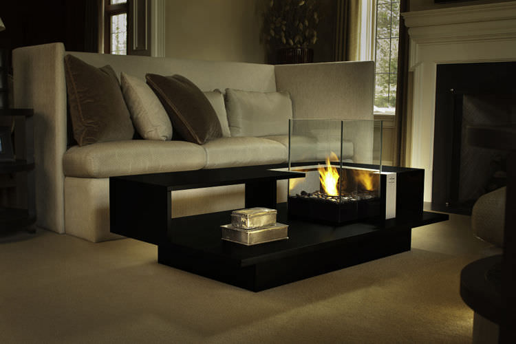 Contemporary Coffee Table / Tempered Glass / Rectangular / With