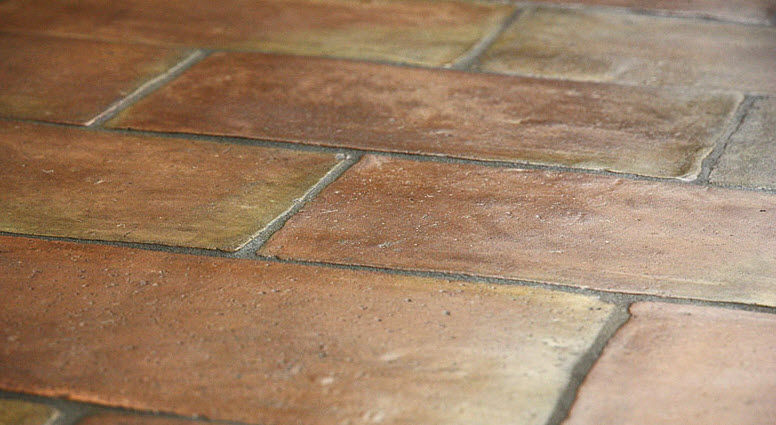 Indoor Tile Floor Terracotta Aged St Tropez French