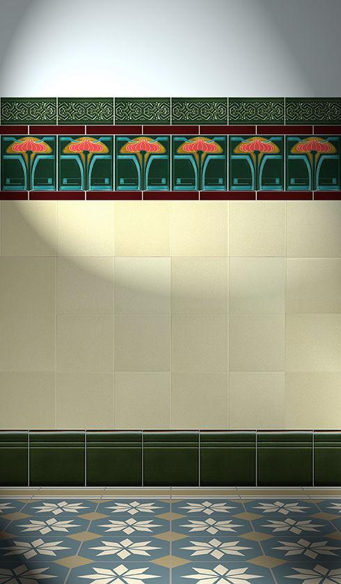 Golem Baukeramik indoor tile wall earthenware nouveau f 26 v3 golem