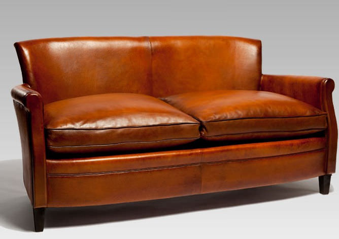 Traditional Sofa / Leather / Beech / 2 Person   PARISIEN 1935