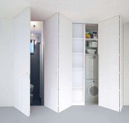 Indoor Door Closet For Walk In Closet Folding Combi Pucci