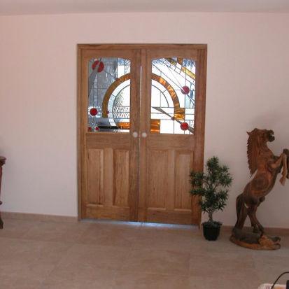 Entry Door Swing Wooden Metal