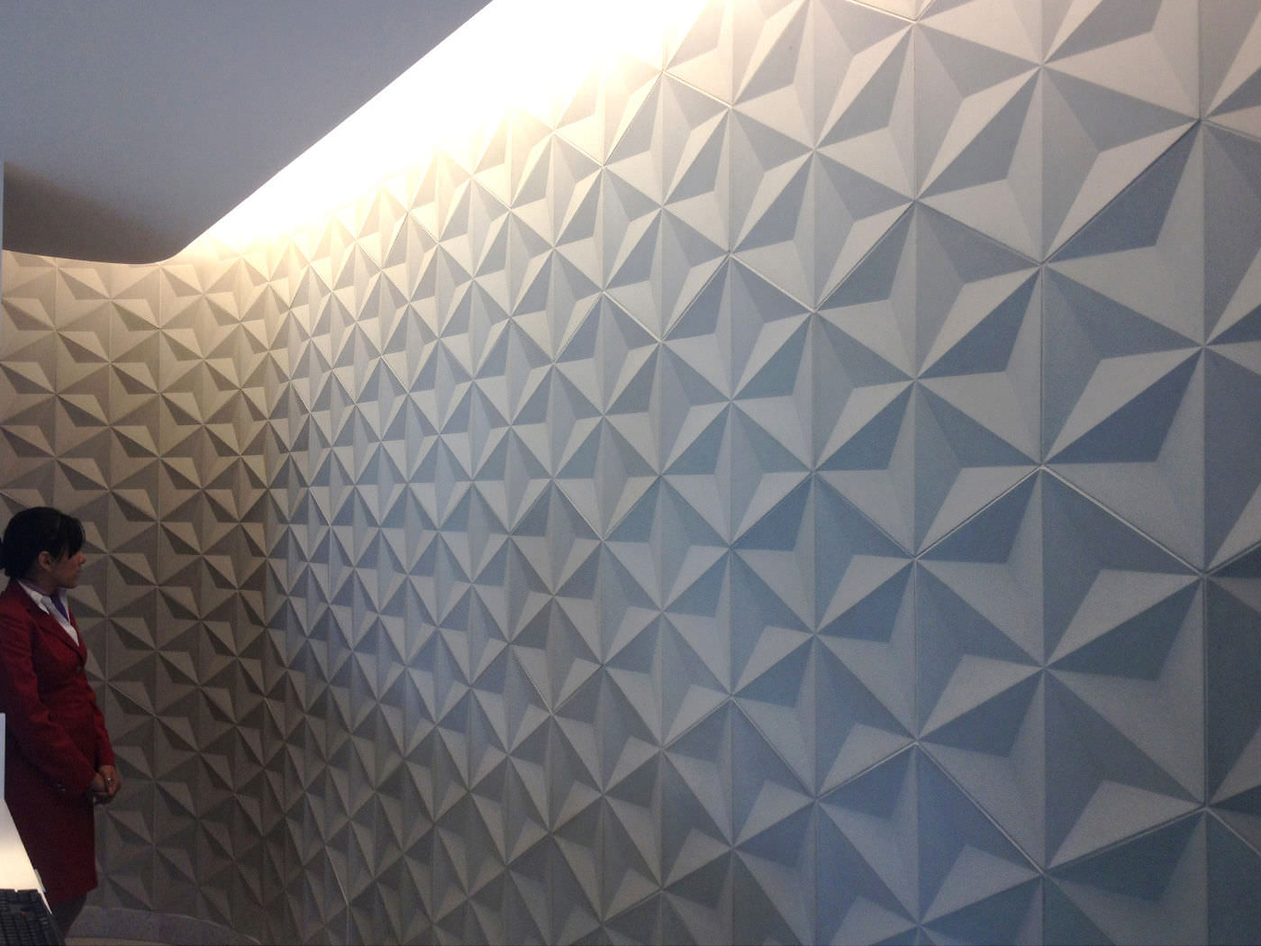 Indoor Tile Wall Concrete Geometric Pattern Anese Geo