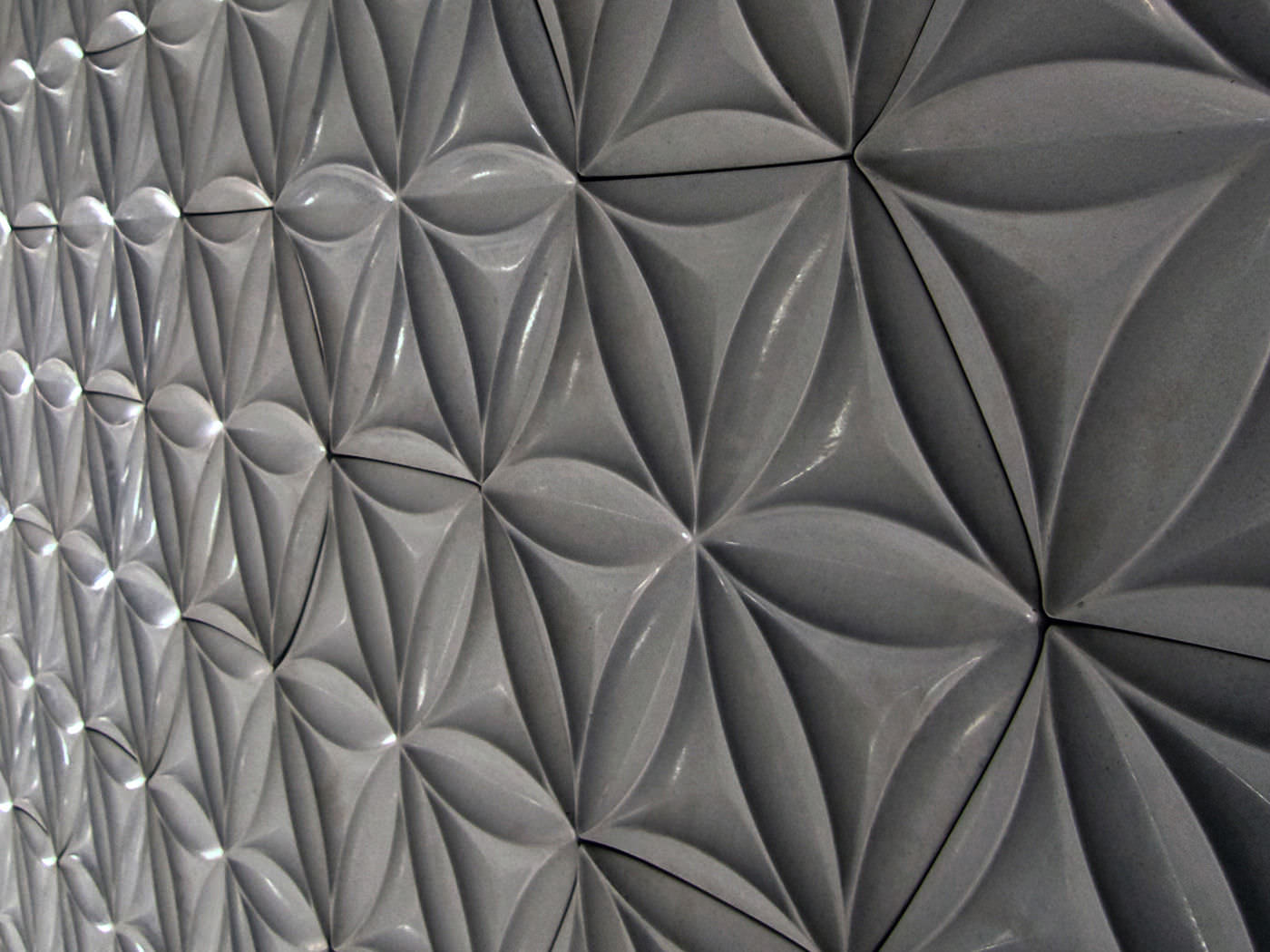 Indoor tile / wall / concrete / geometric pattern - FLORA HEX ...