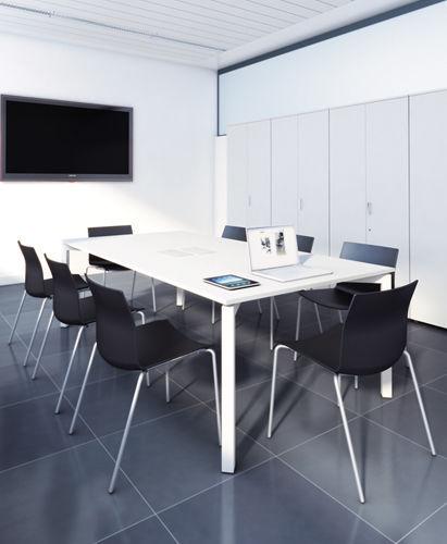 Contemporary Boardroom Table Metal Rectangular Modular Clic