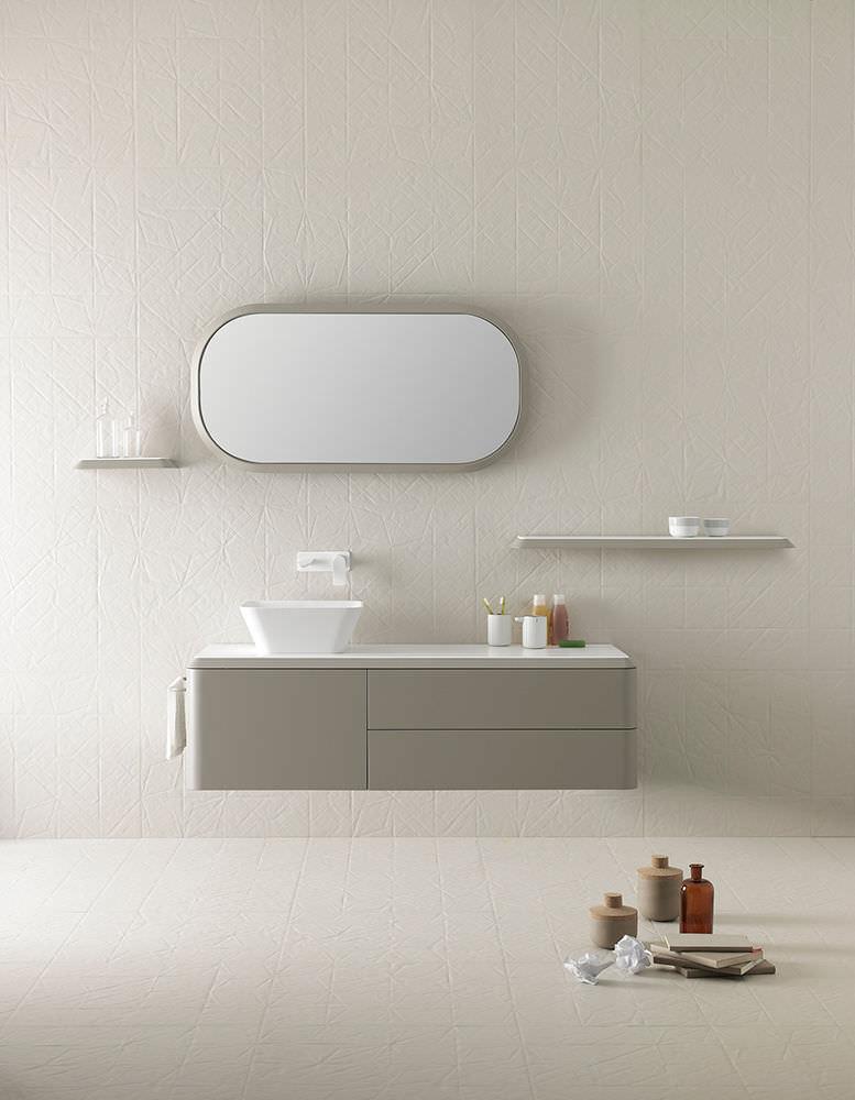 Wall-mounted shelf / contemporary / wooden / bathroom - FLUENT ...
