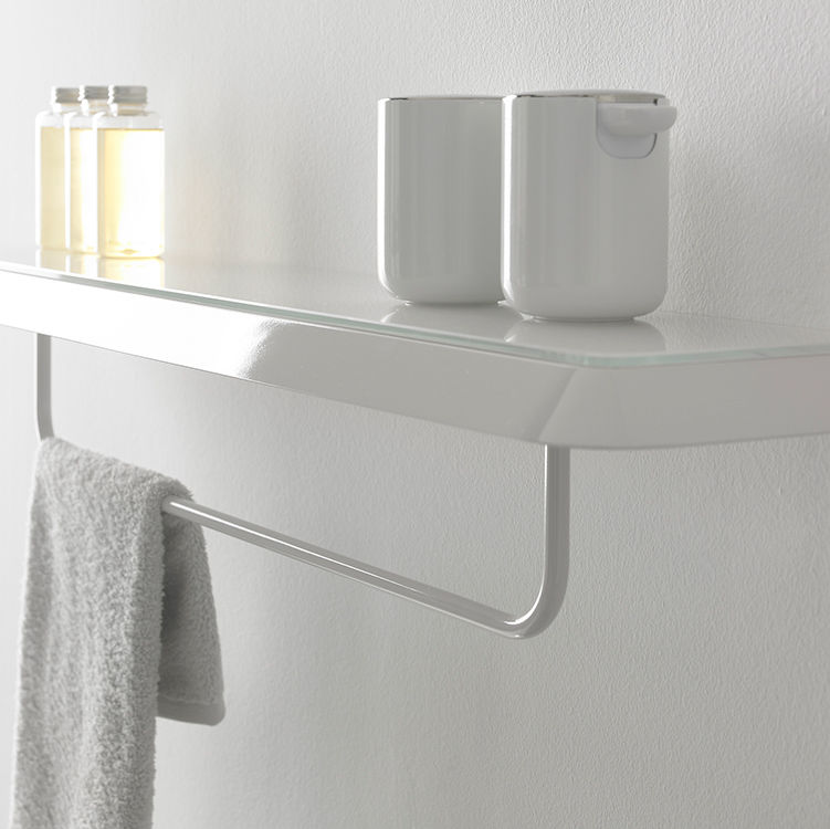 Wall mounted shelf contemporary metal bathroom FLUENT