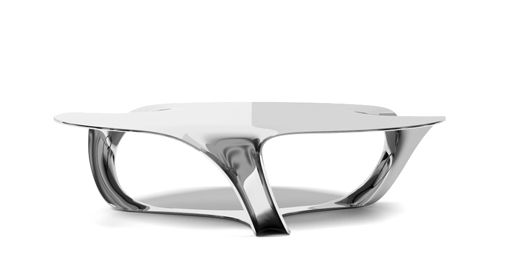 Contemporary Coffee Table / Aluminum   FLOW SIDE