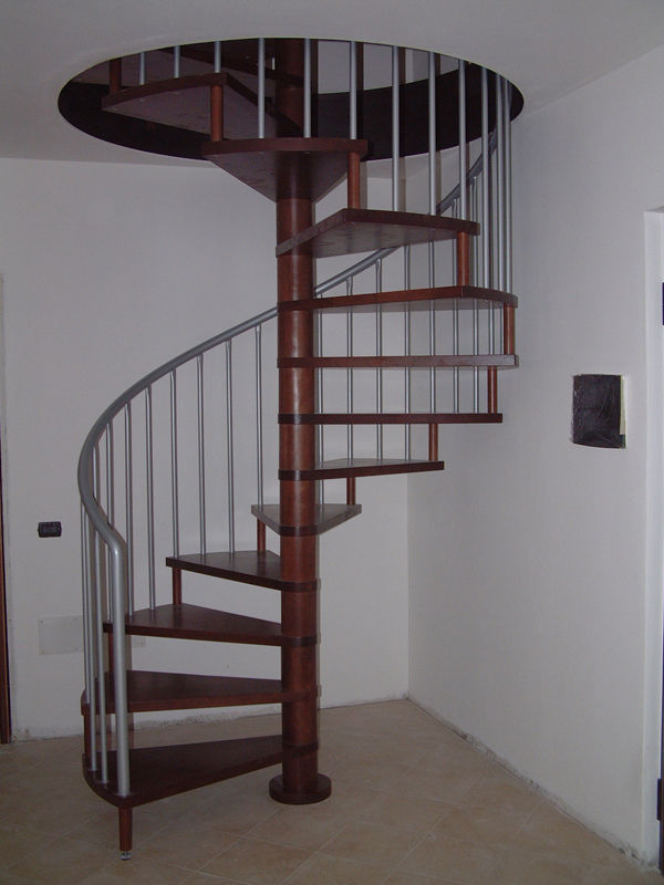 Spiral Staircase / Metal Frame / Wooden Steps / Without Risers   RUBINO
