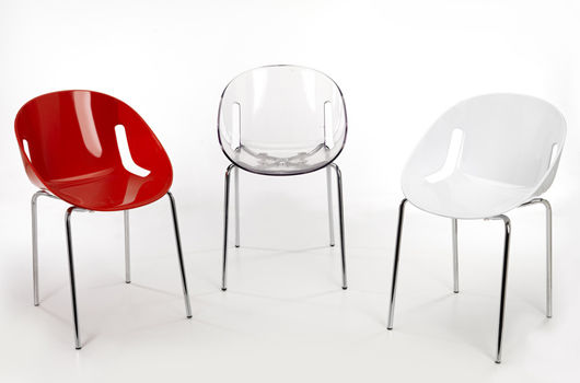 ... Contemporary Restaurant Chair / Stackable / Polycarbonate / Black LIPS  : 2112 M.B. ...