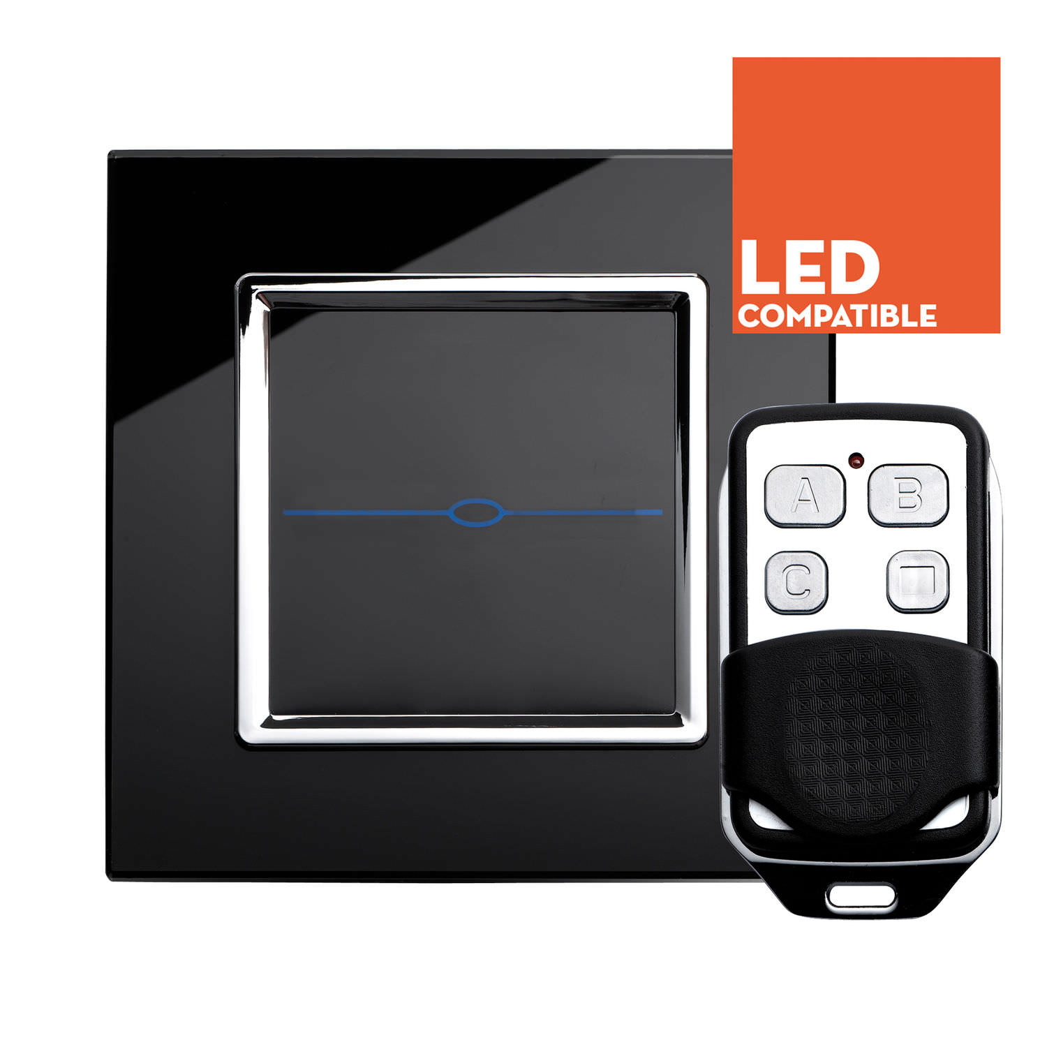 Light dimmer switch / touch / remote-controlled / contemporary ...