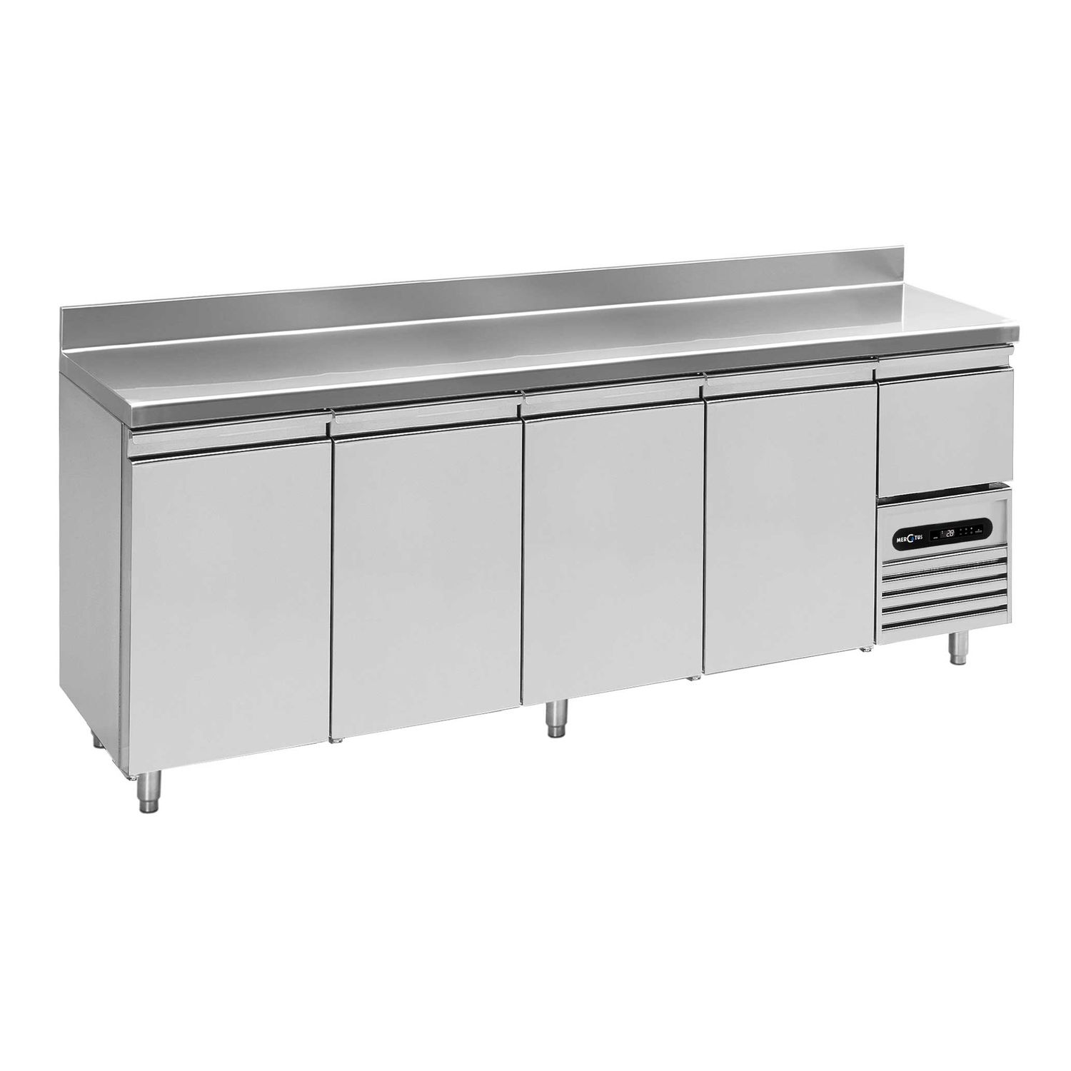 Stainless steel prep table refrigerated with storage compartment stainless steel prep table refrigerated with storage compartment height adjustable snack bar l0 2490 watchthetrailerfo