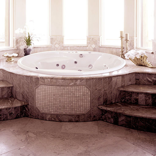 High Quality Round Bathtub / Acrylic / Hydromassage   HAWAII