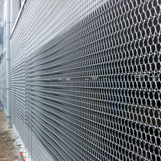 Wire facade mesh / solar shading / stainless steel / twisted - 35 ...