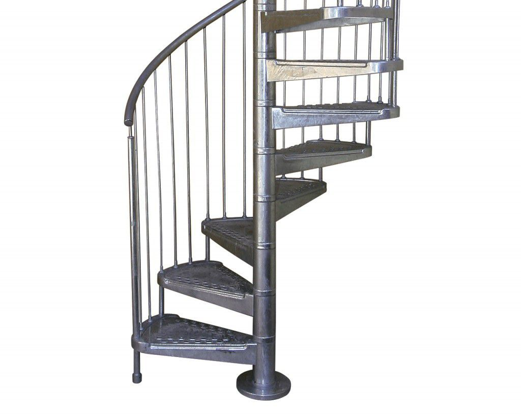 Spiral Staircase / Metal Frame / Metal Steps / Without Risers ...