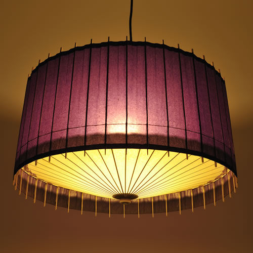 Pendant Lamp Contemporary Japanese Paper Wooden