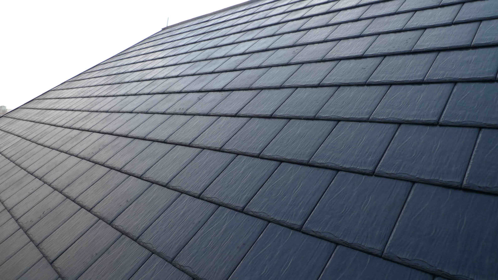 Flat roof tile / stone / black / gray - SYNTHETIC - FANGXING ...