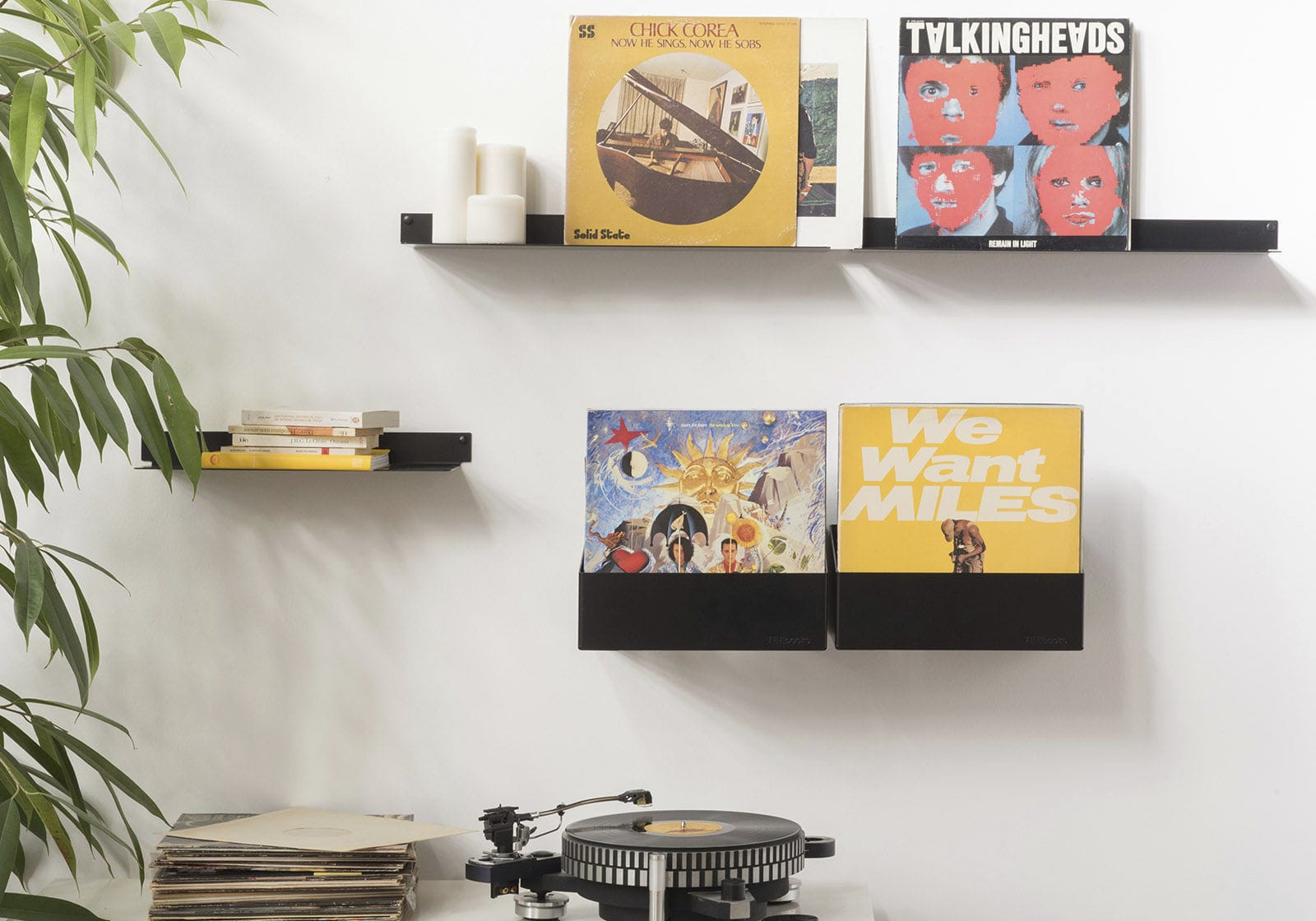 Exceptionnel ... Vinyl Record Shelf / Wall Mounted / Contemporary / Steel ...