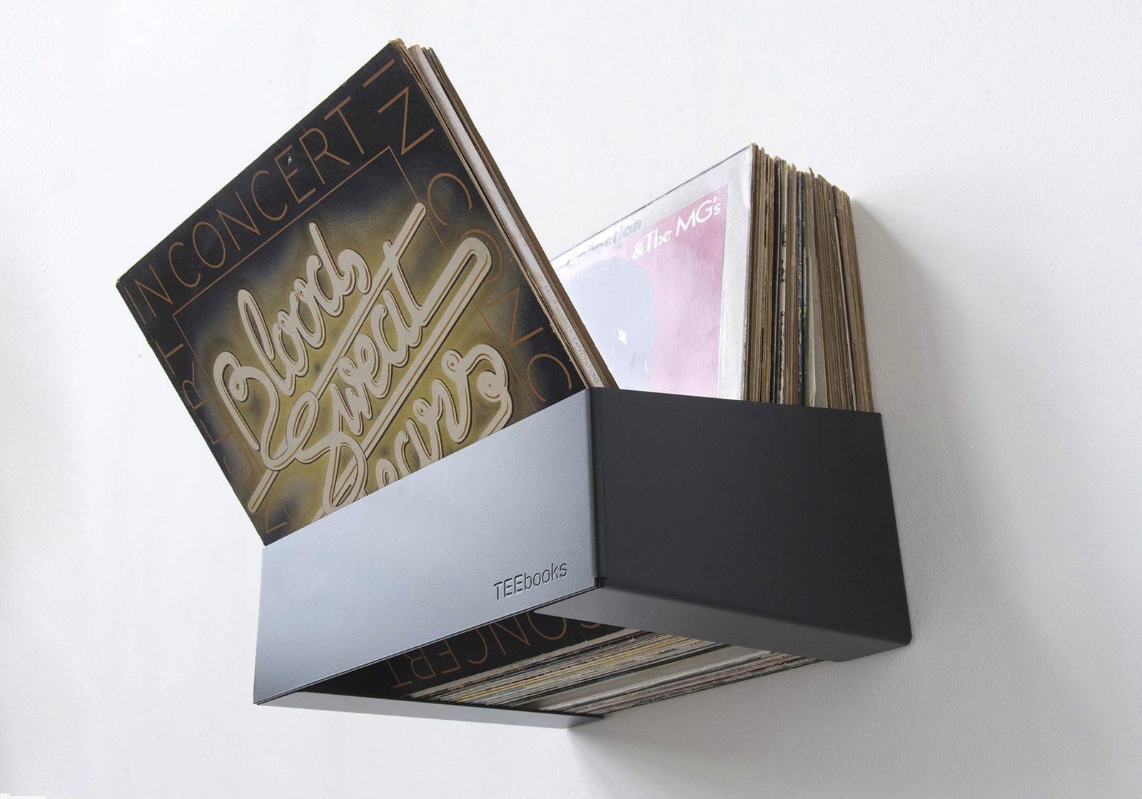 Genial ... Vinyl Record Shelf / Wall Mounted / Contemporary / Steel