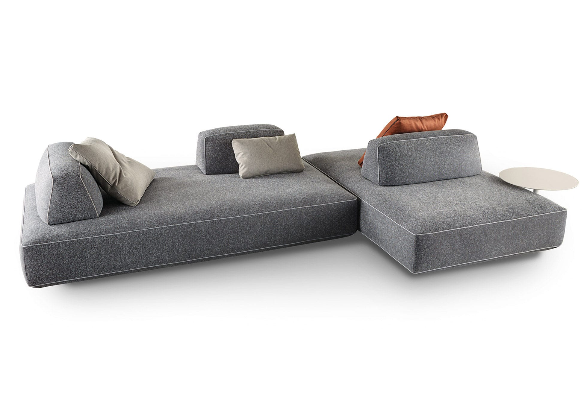 Modular Sofa Contemporary Fabric Beige