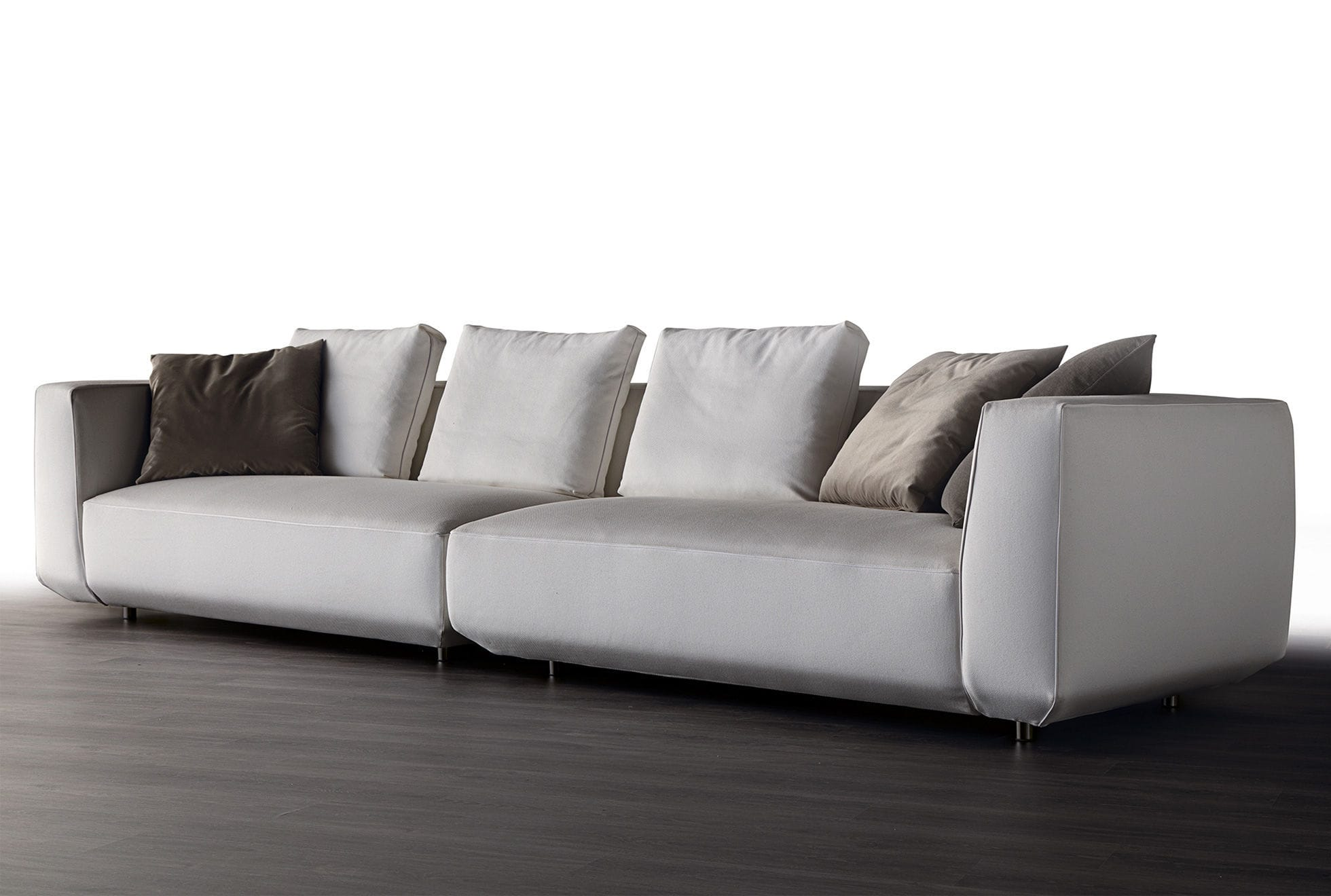 Modular sofa contemporary fabric leather OLTRE art nova srl