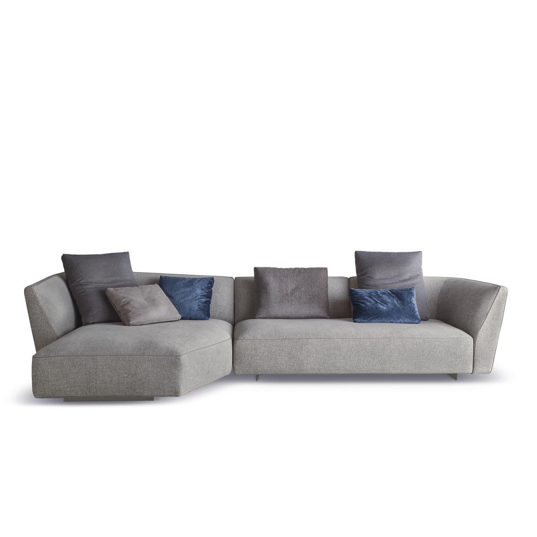 Modular Sofa Contemporary Fabric Brown Cloud
