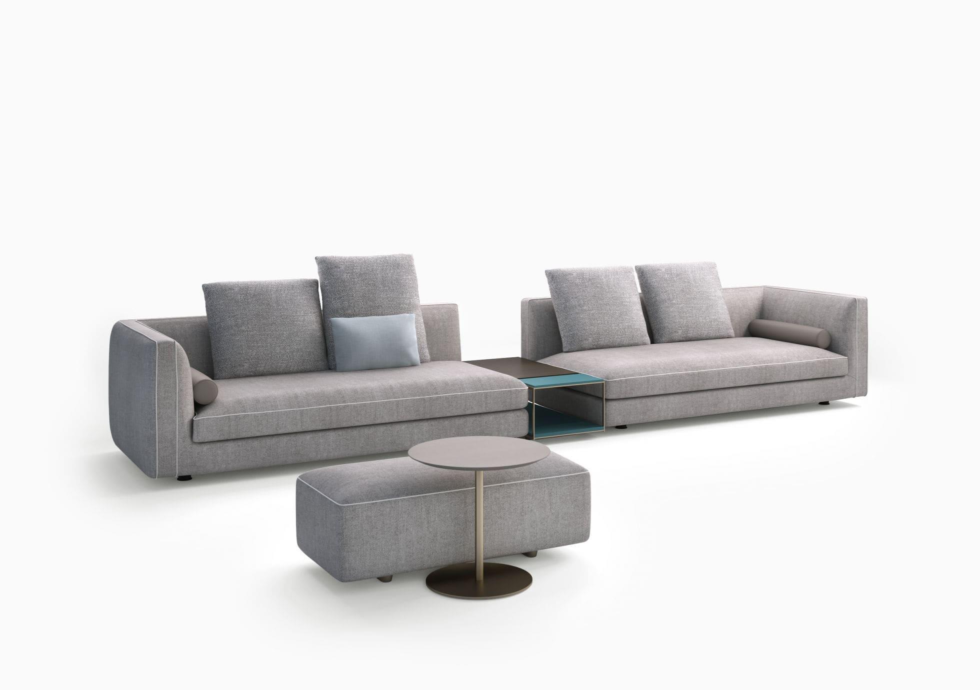 Modular sofa contemporary fabric beige GLAM art nova srl