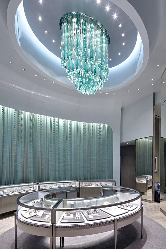 Contemporary chandelier glass stainless steel led icefalls contemporary chandelier glass stainless steel led icefalls in tiffany teal by jitka kamencov skuhrav mozeypictures Gallery