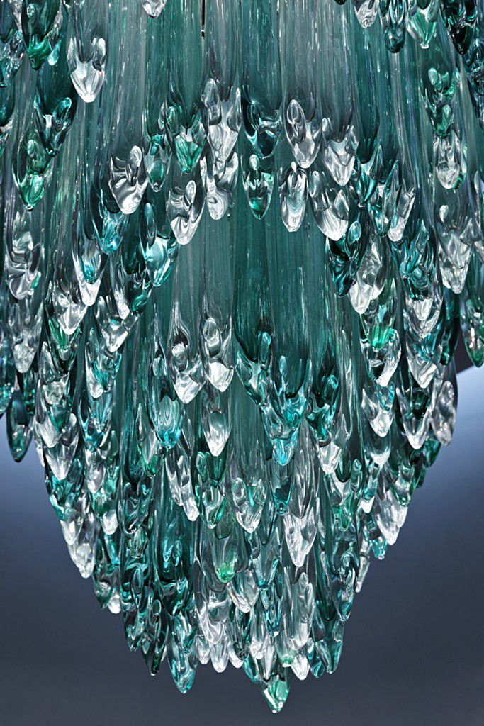 steel glass product teal chandelier lasvit prod stainless led contemporary icefalls