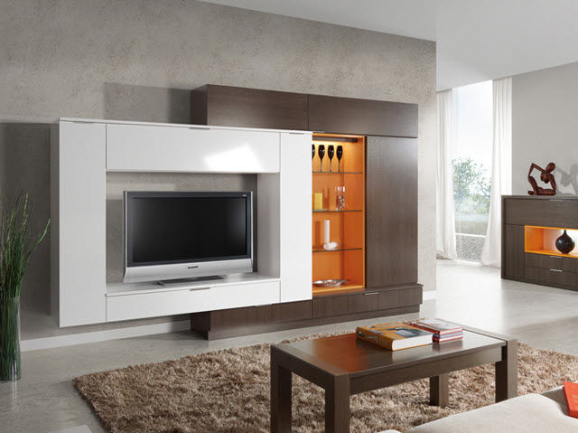 contemporary tv cabinet / wooden - milenium plus 4705 - baixmoduls