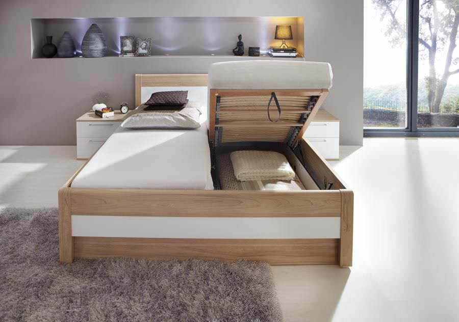 Great Double Bed / Contemporary / With In Base Storage / Wooden ...