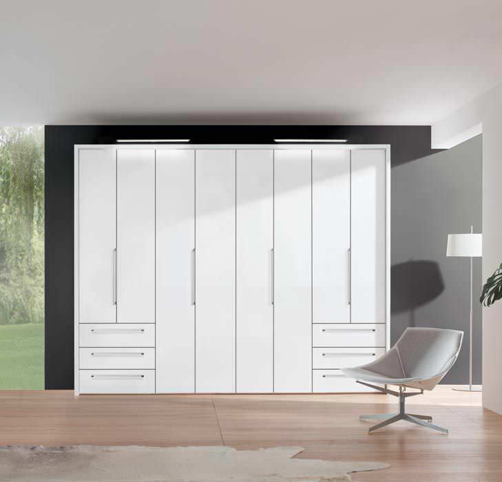 Contemporary wardrobe / wooden / with swing doors - HORIZONT 7000 ...