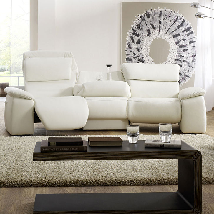 Contemporary Sofa Leather 2 Person 3 Seater