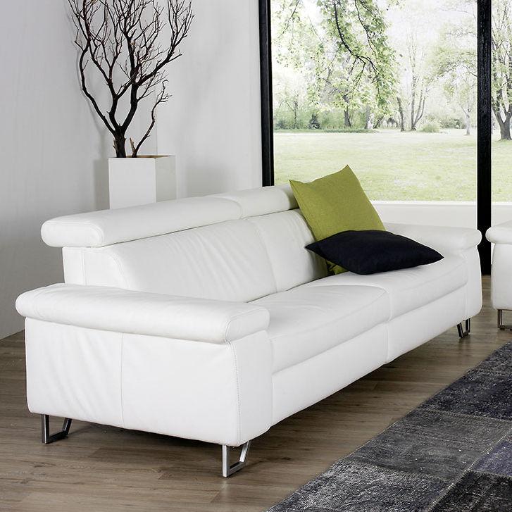 Contemporary Sofa Fabric Leather 2 Person
