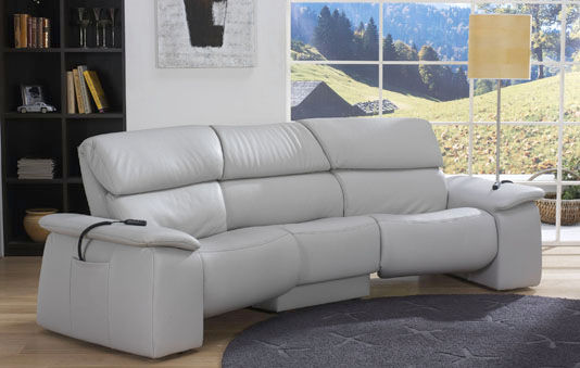 traditional sofa / leather / 3-seater / reclining - cumuly : 4032 09C466CJ