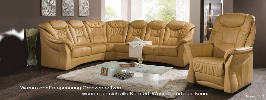 Corner sofa / traditional / leather / 6-seater - PLANOPOLY 1 ...