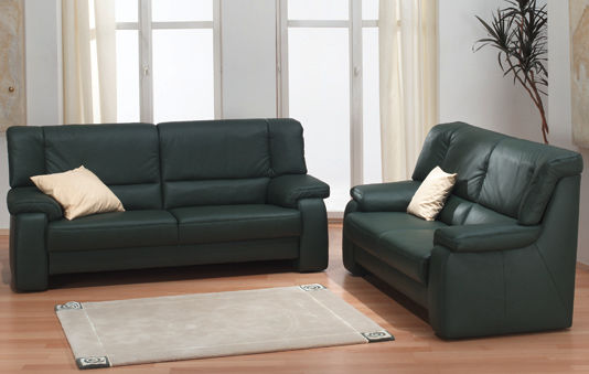 Traditional sofa / leather / 2-seater / yellow - TANGRAM : 9484 ...